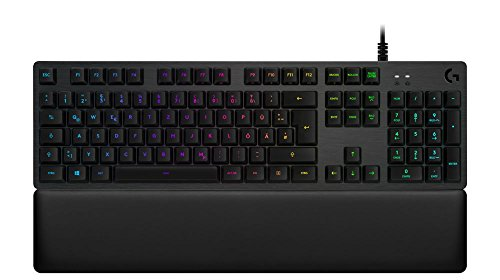 Logitech G513 Tastiera Gaming Meccanica Retroilluminata con Switch Tattile Romer-G, Carbon, QWERTZ Layout Tedesco