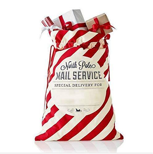 Wide smile borsa di natale con babbo natale sacchi per il regalo personalizzato busta tela con coulisse per regali decorazioni & holiday party favors for kids girl boy red