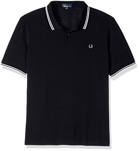 Fred Perry Herren Poloshirt Marineblau / Weiß