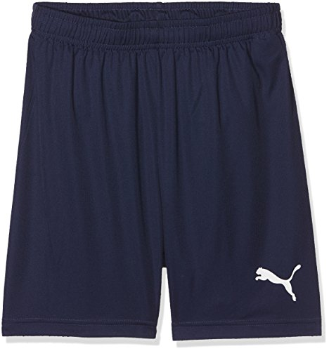 PUMA Kinder Liga Core Jr Training Shorts, Peacoat White, 116