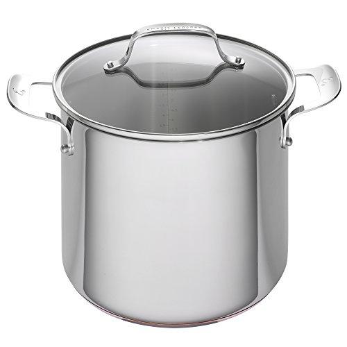 Emeril Lagasse Stainless Steel Copper Core Stock Pot, 8 quart, Silver