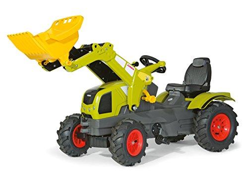 Rolly Toys 611072 rollyFarmtrac Claas Axos 340 | Traktor mit Lader | Trettrakor mit Motorhaube zum Öffnen, Luftbereifung, Sitzverstellung | Frontlader/Schauffellader | ab 3 Jahren | Farbe grün