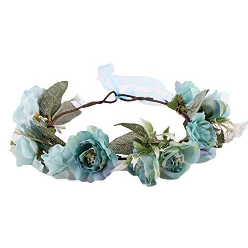 Xmiral Damen Haarband Mode Simulation Blume Hochzeit Girlande Haar Kopf für Frauen Baby Kinder Handgemachte Rose Blume Stirnband Kranz ()
