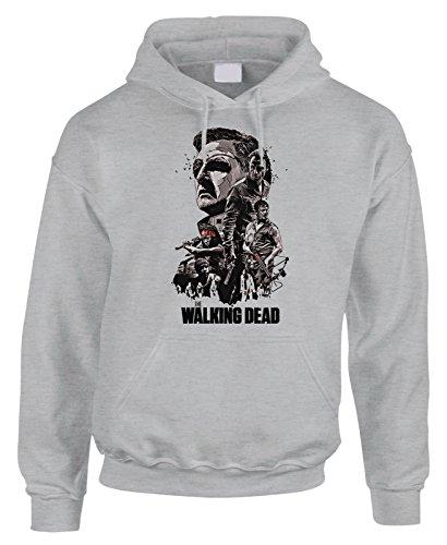 Felpa con cappuccio Dixon Biters The Walking Walkers Zombie Dead - in cotone by Fashwork