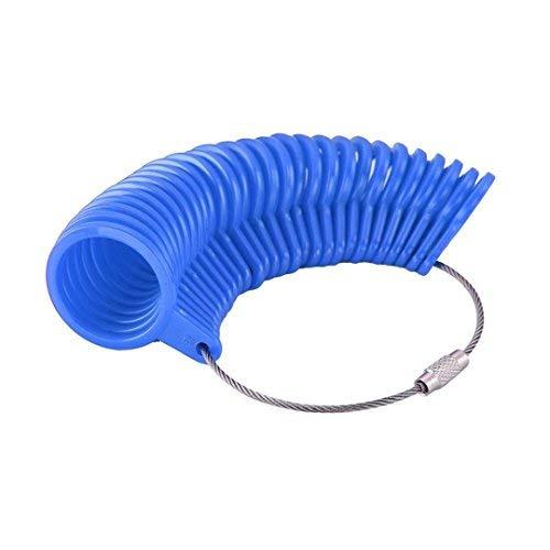 OFKPO 27 Stück Kunststoff Ringgröße Messgeräte,A-Z Finger Sizer Messung Ring Werkzeug