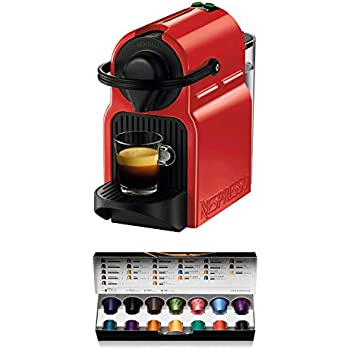 Nespresso Krups Inissia XN1005 - Cafetera monodosis de cápsulas Nespresso, 19 bares, apagado automático, color rojo