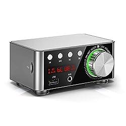 Mini Bluetooth 5.0 Verstärker USB Musik Player Stereo Home / Car Audio Amplifier (Silver)