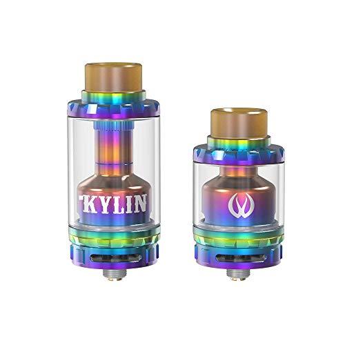 100% Original Vandyvape Kylin RTA Verdampfer Tank 2ml,6ml-Ohne Nikotin Ohne Tabak (Rainbow) (Authentische Rda Mod)