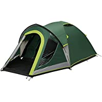 Coleman Tent Kobuk Valley 4 Plus, 4 man tent with BlackOut Bedroom Technology, Festival Essential, 1 bedroom Family Dome Tent, 100% waterproof Camping Tent with sewn in groundsheet