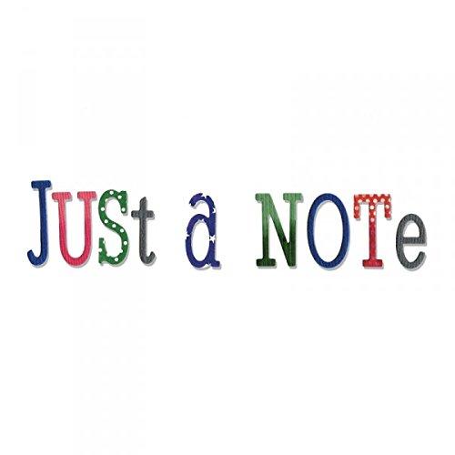 Nur ein Notizalphabet - Sizzix Worte Thinlits