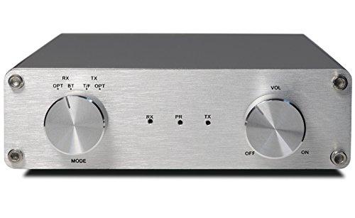 FeinTech AVS00200 Audio-Digital-Verstärker, Class-D Stereo mit Bluetooth aptX, 40W silber