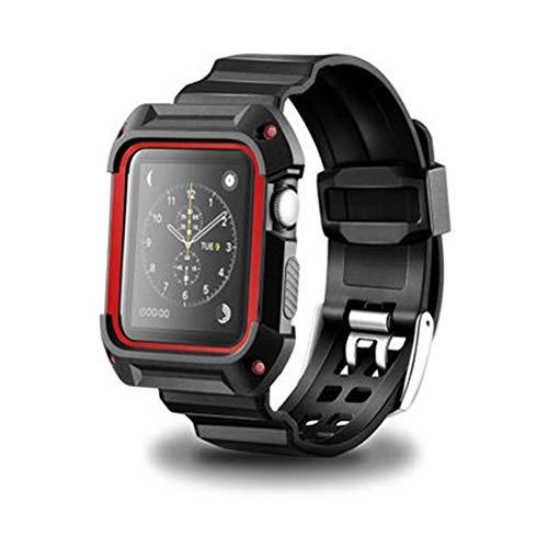 Nike Sport-uhren Frauen (Kompatible Apple Watch Band 38 / 42Mm, Ersatz Iwatch Strap Anti-Fallen Silikon, Männer Frauen Sport Armband Armband Iwatch Serie 3, Serie 2, Serie 1, Nike +, Edition,Black/Red,38Mm)