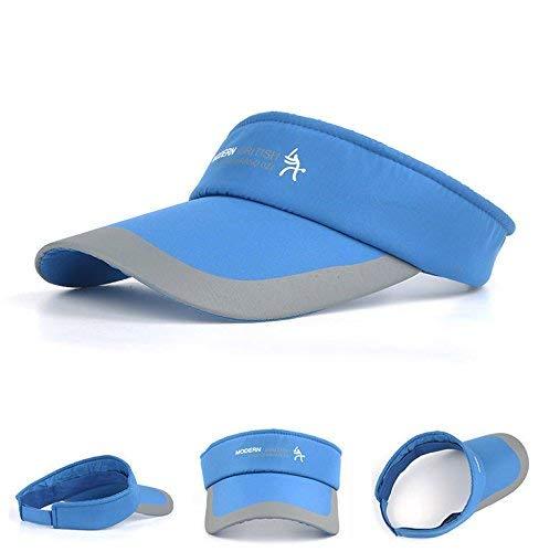 HYSENM HYSENM Visor Baumwolle Einheitsgröße Unisex Cap mit Klettverschluss Einstellbar Anti-UV für Reisen Radsport Tinnesspielen Kappe (Blau)
