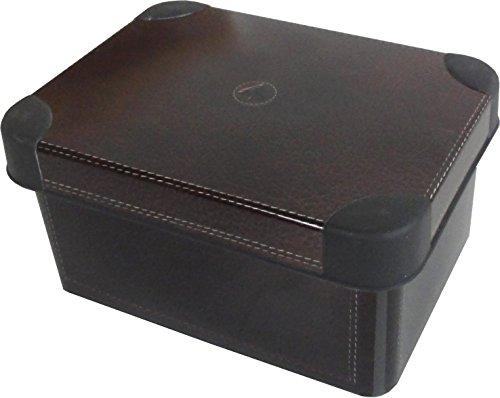 "Deco Aufbewahrungsbox \""Leder Optik\"" 1,9L ca. 19 x 14 x 10 cm Kiste mit Deckel Kunststoff Box"