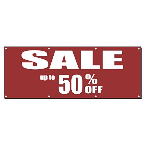 SALE bis zu 50% OFF 13Oz Vinyl Banner Schild mit Tüllen 3 Ft X 6 Ft