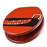 banjado Design Toilettensitz mit Absenkautomatik, WC-Sitz Holz, Klodeckel mit Metall Scharnieren, Toilettendeckel mit Motiv LL Cool Dog