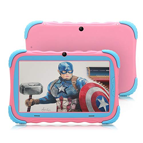 【Upgraded】 iRULU 7 inch Android 7.1 Kids Tablet IPS HD Screen 1GB/16GB Babypad Edition PC with WiFi and Camera and Games Google Play Store Bluetooth Kids-Proof Case GMS Certified with Charger (Green) (Tablet Irulu Pc)