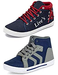 3a5027d0ae Ethics Men s Perfect Combo Pack of 2 Leather Multicolored Casual Sneakers  Shoes for Men s