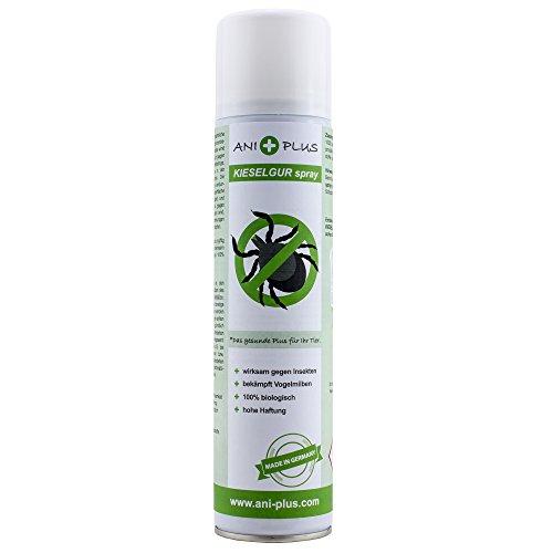 AniPlus - Kieselgur Spray 400 ml gegen alle kriechenden Insekten und Schädlinge bei Pferden, Hunden, Katzen, Geflügel und Pflanzen (100% biologisch)