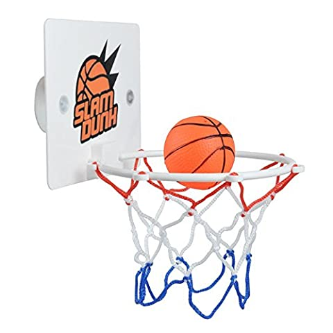 Mini Basketball Hoop Toy, Slam Dunk Gadget Office Desktop Bathroom Toilet Game Home Deco for Basketball Lovers Adults Boys Girls Kids over 5