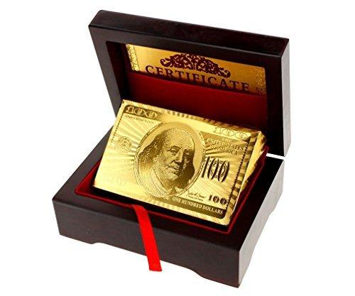 Other Baraja de cartas chapada en oro de 24 quilates (en caja de madera)
