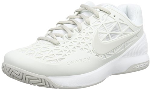 Nike Zoom Cage 2, Damen Tennisschuhe, Weiß (Summit White/Light Bone), 40.5 EU (6.5 Damen UK)