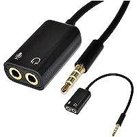 Hilai 3.5mm 1/8auricolari + Micrófono Adaptador para Estéreo Audio Macho PC iPhone