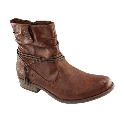 SALE - MUSTANG - Damen Stiefeletten - Braun Schuhe in Übergrößen, (Sale Schuhe Damen)