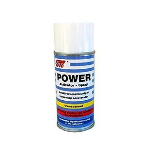 STC Power Aktivator Spray 150 ml Activator Spray für Cyanacrylatklebstoffe Aktivatorspray für Sekundenkleber