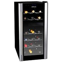Orbegozo Vt1800 - Vinoteca, 18 botellas, 61 x 25.2 x 51 cm, electronico, cristal espejo, 140 W