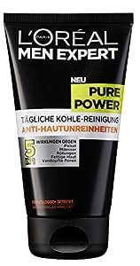 L'Oréal Men Expert Pure Power Reinigungsgel zur täglichen Gesichtsreinigung für Männer, 1er Pack (1 x 150 ml)