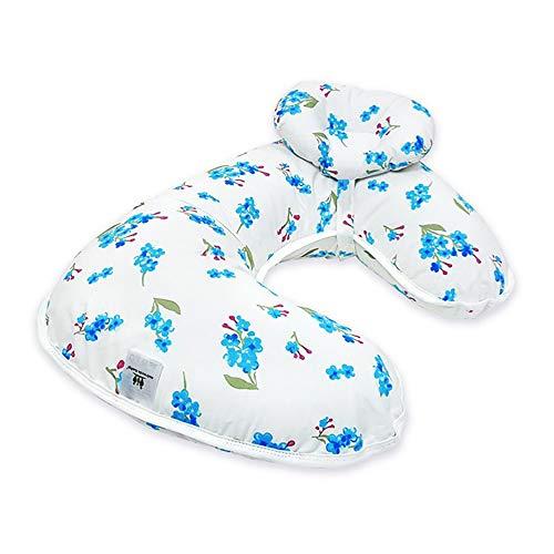 LHZTZKA Oreillers d'allaitement pour bébé, Oreillers de maternité Mamans l'allaitement au Sein De Grands et Petits oreillers sont Amovibles-Fleur Bleue