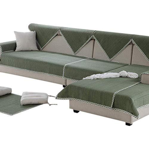 Zzy Gesteppte möbel Protektoren für Haustier Anti-rutsch slipcovers l Schnittform Volltonfarbe Sofa hussen Couch verdicken Abdeckung-1 stück-A 90x240cm(35x94inch)