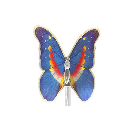 TianranRT★ Bodenleuchten Im Freien - Schmetterlings-Solar-Led-Licht Im Freien Garten-Rasen-Licht-Dekoration Fairy Light, Schmetterlings-Sonnenlicht, Blaue Beleuchtung - Display Kunststoff-utensil