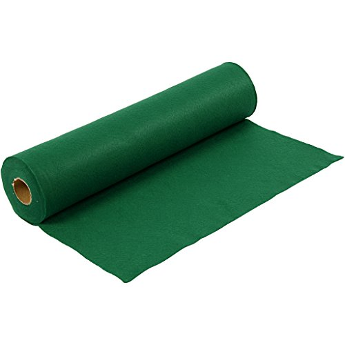 Fieltro para manualidades, A: 45 cm, grosor 1,5 mm, verde, 5m