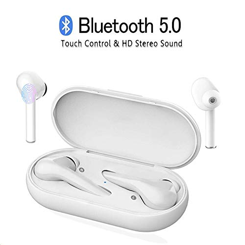 Écouteurs Bluetooth 5.0, Casque Bluetooth M6s-TWS Oreillette Stéréo sans Fil Mini Casque de Sport sans Fil avec Mini boîte de Chargement de Rangement pour Samsung iPhone iPad Huawei Sony HTC MI