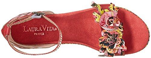 Laura Vita Ladies Beline 10 Sandali Rosso (rouge)