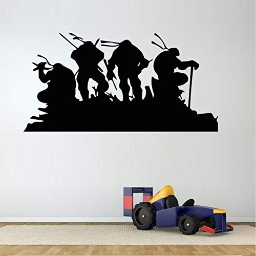 hllhpc Home Decoration Poster Wandaufkleber Schildkröte Cartoon Heroes Ninja s Für Kindergarten Kinderzimmer Jungen Papier Aufkleber Schlafzimmer Haus 42x84 cm