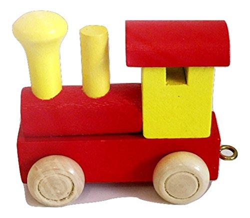 Buchstabenzug Bunt | Wunschname zusammenstellen | Holzeisenbahn | Fun World Toys® Namenszug aus Holz | personalisierbar | auch als Geschenk Set (Buchstabe: Locomotive)