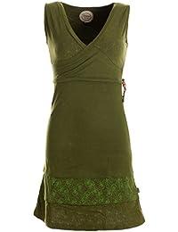 Vishes - Alternative Bekleidung - Kurzes ärmelloses mini Sommerkleid bedruckt - Tunika