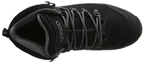 DOGGO Bruno, Stivali da Escursionismo Alti Unisex – Adulto Nero (Black/Grey)