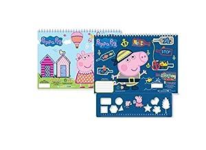 Diakakis 000482245 Peppa Pig - Pegatinas para Pintar (23 x 33 cm, 2 diseños), Multicolor