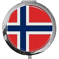 "metALUm - Extragroße Pillendose in runder Form""Flagge Norwegen"" preisvergleich bei billige-tabletten.eu"