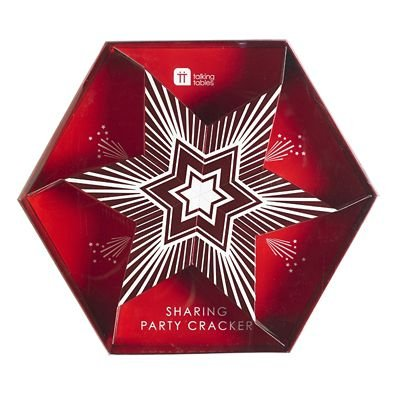 sharing star shaped christmas cracker designed for 6 people to pull together