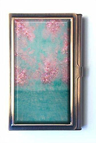 amsun dünn Vinyl Individuelle Custom Edelstahl Bronze Visitenkartenhalter Name Kreditkarte ID Brieftasche -