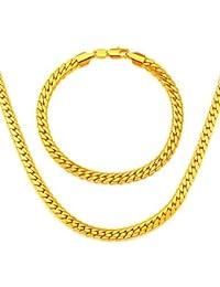alta calidad de la cadena de serpiente de Corea del collar de enlace adecuado para hombres de oro de la joyería 18k plateó los collares