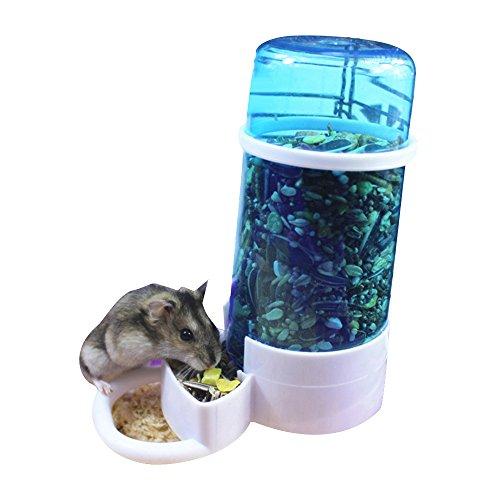 URIJK Distributeur de l'eau Automatique Pet Animaux Hamster Lapin Dispositif d'alimentation Distributeur de Nourriture Oiseau Pigeon Perroquets Mini Hérisson avec Support Fixé dans la Cage