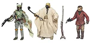 Star Wars Vintage Special 3 Action Figure Villian Set; Sand People, Boba Fett, Snaggletooth