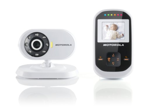Motorola MBP18 Digital Video Baby Monitor with 1.8 inch Display – White/Black 41dlRKFi9xL