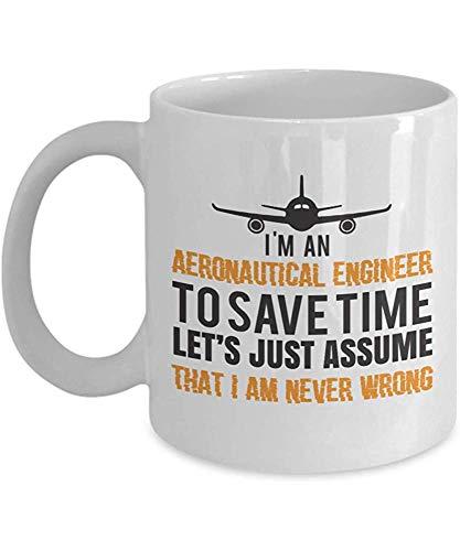 Ingeniero aeronáutico Taza de agradecimiento Idea de regalo para la novedad laboral Taza de té llena de café Impresionante regalo para ingeniero aeronáutico presente